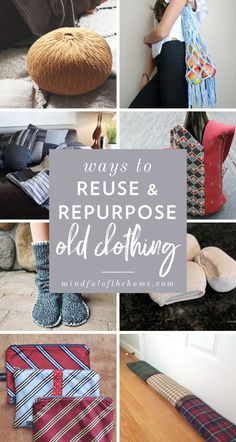 Looking for ideas for upcycling clothes that no longer fit but you still love? Check out these DIY ideas for reusing and repurposing old clothing like shirts and jeans. clothes repurposing 22 Practical Ways To Repurpose Old Clothing Into Something New Diy Kleidung Upcycling, Diy Upcycling, Upcycling Projects, Upcycling Clothing, Recycled Clothing, Clothing Ideas, Diy Upcycled Art, Repurposed, Upcycled Furniture