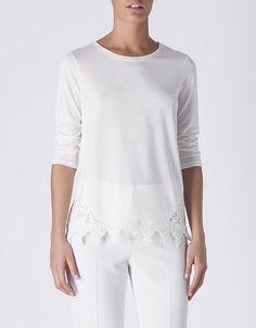 Camiseta aplique guipur | SHOP ONLINE SUITEBLANCO.COM