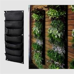 Meiwo 7 Pocket Hanging Vertical Garden Wall Planter For Garden Home Decoration is part of Urban garden Wall - Garden Wall Planter, Living Wall Planter, Vertical Garden Wall, Vertical Gardens, Garden Beds, Diy Living Wall, Garden Walls, Vertical Planter, Living Walls