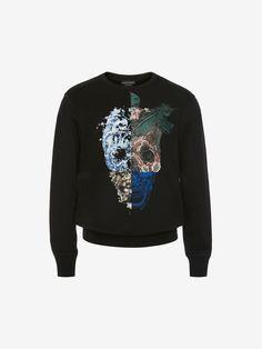 387cc69b7 Alexander Mcqueen Skull Printed Sweatshirt - Black Black Cotton, Printed  Cotton, Crew Neck Sweatshirt