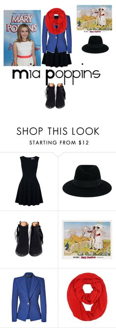 """""""Mia Poppins. Daughter of Bert and Mary Poppins"""" by damack on Polyvore featuring Oasis, Maison Michel and Balmain"""