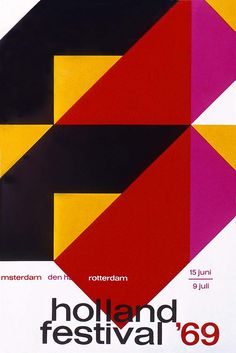 https://flic.kr/p/mBCGR | Dutch Graphic Design | Holland poster by Dick Elfers.