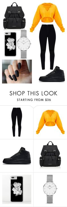 """Untitled #1453"" by fashion123456788 ❤ liked on Polyvore featuring NIKE, Burberry and Daniel Wellington"