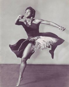 Pearl Eileen Primus (11/29/1919-10/29/1994) was a dancer, choreographer & anthropologist. Primus played an important role in the presentation of African dance to American audiences. Early in her career she saw the need to promote African dance as an art form worthy of study & performance. Primus' work was a reaction to myths of savagery & the lack of knowledge about African people.