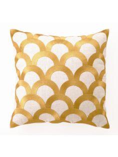 DL Rhein Scales Pillow, Citron
