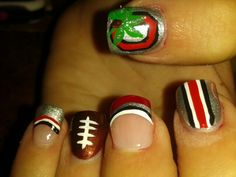 Ohio state nails -- doing these for the game in October!! :)