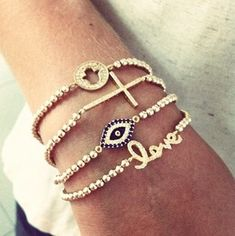 These bracelets are a great accessory, wear them one at a time or all at the same time.