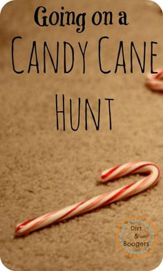 Holiday Game Candy Cane Hunt instead of hiding Easter eggs