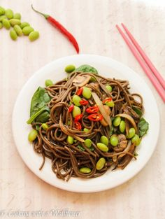 Edamame Soba Noodle Salad | Cooking with a Wallflower