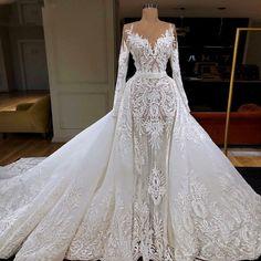 Muslim Wedding Dresses, Western Wedding Dresses, Dream Wedding Dresses, Bridal Dresses, Bridesmaid Dresses, Wedding Hijab, Wedding Dresses Detachable Skirt, Dresses Dresses, Wedding Attire