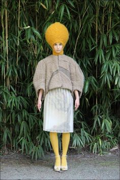 not sure sure about the melon head....Knits by Nathalie Fordeyn