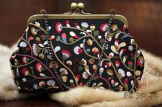in 2020 in 2020 Embellished Purses, Beaded Purses, Embroidery Purse, Hand Embroidery Designs, Sweet Bags, Potli Bags, Frame Purse, Diy Tote Bag, Bijoux Diy