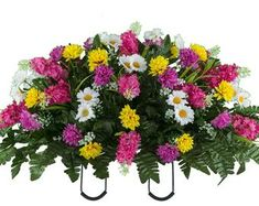 Pink and Beauty Peonies Cemetery Flower Arrangement Fake Flowers, Artificial Flowers, Silk Flowers, Dried Flowers, Flowers Nature, Yellow Wildflowers, Yellow Tulips, Pink Peonies, Cemetery Decorations