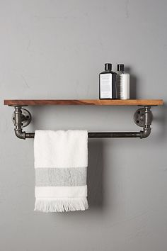 Pipework Towel Rack #anthropologie