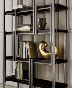 Massimiliano Raggi - Designer - Collection - Casamilano Home Collection - Italy Interior, Display Shelves, Bookcase Shelves, Living Space Decor, Office Interiors, Bookcase, Cocktail Cabinet, Metal Furniture, Shelving