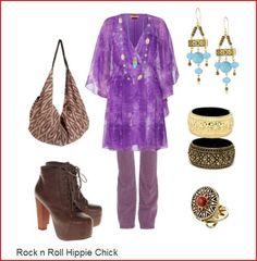 Rock n Roll Hippie Chick - Vintage Boho Chic
