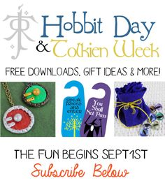 Join us in celebrating Hobbit Day and Tolkien week! We've got crafts, free downloads, recipes and much more! Subscribe to get notified.