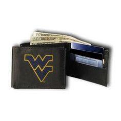 West Virginia Mountaineers NCAA Embroidered Billfold Wallet