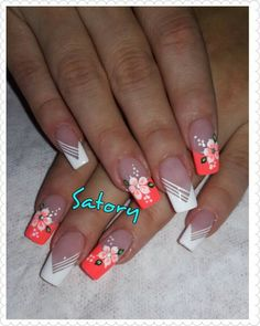 Make an original manicure for Valentine's Day - My Nails Nail Designs Spring, Cute Nail Designs, Acrylic Nail Designs, Beautiful Nail Art, Gorgeous Nails, Pretty Nails, Hot Nails, Nagel Gel, Flower Nails
