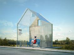 Bus Stop Concept by Anton Storozhev, via Behance