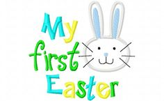 Items similar to My First Easter Easter Bunny Boy Girl Applique Machine Embroidery Design and on Etsy My First Easter, Little Blessings, Easter Bunny, Appliques, Boys, Handmade Gifts, Art, Riveting, Baby Boys