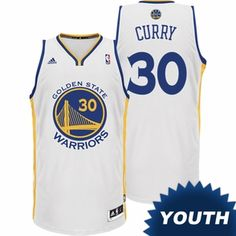 Stephen Curry Youth Jersey: adidas Revolution 30 Home White Swingman #30 Golden State Warriors NBA Jersey