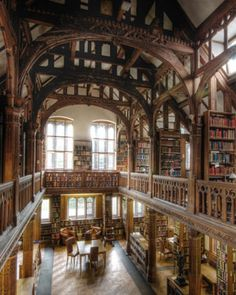 Gladstone's Library in Wales. A hotel inside a library founded by British Prime Minister William Gladstone in Beautiful Library, Dream Library, Library Books, Stonehenge, Hyde Park, Beautiful Hotels, Beautiful Places, Wonderful Places, Brighton