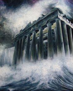Acropolis, Ancient Greece, Niagara Falls, Apocalypse, Mystic, Rome, Egypt, Digital Art, Travel