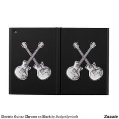 Electric Guitar Chrome on Black