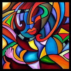 Art: Cubist 108 3636 Zeus by Artist Thomas C. Fedro