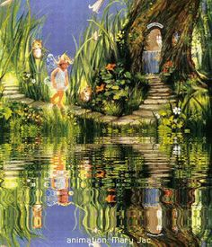 Fairy Friends 26 - Going Home - Animated Fantasy Art - The Fairy Realm - Fairies