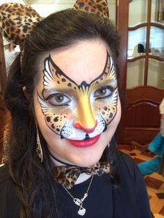 Quick cat face painting design by Athena Zhe