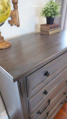 driftwood finishes dresser general bronze paint glaze gray milk dyke and van gf in bronze gray dresser general finishes milk paint glaze GF in driftwood and glaze in van dykeYou can find Painted furniture and more on our website Redo Furniture, Furniture Rehab, Furniture Diy, Refurbished Furniture, Diy Furniture, Furniture, Chalk Paint Furniture, Home Decor, Paint Furniture