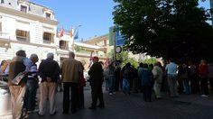 22 de mayo de 2012: Apoyando la entrega de firmas a Cristina Cifuentes, Delegada del Gobierno en Madrid.