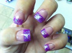 purple french tips | Cute nail designs ❤ | Pinterest