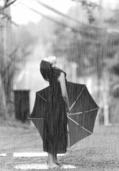 Use to do this all the time when I was a kid...LOVED playing in the rain. Obviously not living in N.M. at the time. Come on Monsoon season!!!
