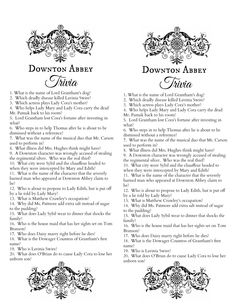 Downton Abbey Trivia Quiz Free Printable, by Make Life Lovely.pdf