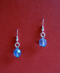 Blue Crystal Bead Elegant Earring by designsbypbe on Etsy, $10.00