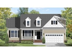 Farmhouse House Plan with 1706 Square Feet and 3 Bedrooms from Dream Home Source | House Plan Code DHSW076566