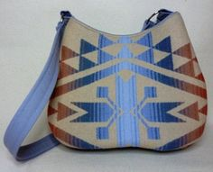 I love the Native American pattern and texture on this bag