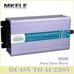 High Quality MKP1000-482 48v To 220vac Power Inverter 1000w Off Grid Pure Sine Wave Voltage Converter Solar LED Display China