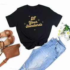 Wxmen's Clothing & Accessories | EMPOWERHAUS by Emily Hopper Body Positive Quotes, Breast Cancer Survivor, Cute Quotes, Wardrobe Staples, Feminism, Sassy, Graphic Tees, Just For You, T Shirts For Women