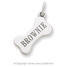 James Avery Engravable Dog Bone Charm I want this one side Gir other side Galilea