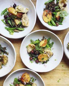 les salades de pommes de terre sur le compe instagram de cannelle vanille
