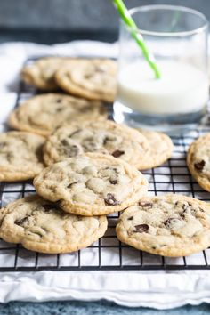 Your new favorite chewy, soft chocolate chip cookies. Under-bake them slightly so they come out with crispy edges and soft centers. Bhg Recipes, Cookie Recipes, Dessert Recipes, Frozen Cookie Dough, Soft Chocolate Chip Cookies, Cut Out Cookies, Appetizers For Party, Yummy Drinks, Favorite Recipes