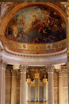 ♥ Closeup, Altar & Dome of Royal Chapel, Palace of Versailles