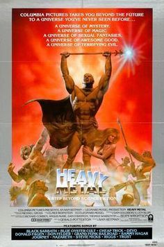 Heavy Metal (Columbia, One Sheet X Style B. Starring the voices of John - Available at Sunday Internet Movie Poster. Heavy Metal 1981, Heavy Metal Movie, Heavy Metal Art, Fantasy Movies, Sci Fi Fantasy, Dark Fantasy, Zootopia, Heavy Metal Fashion, Metal Magazine