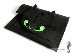 Toothless MacBook Pro 13 inch sleeve - funny, cute black dragon - felt - for fan - how to train your dragon - MADE to ORDER