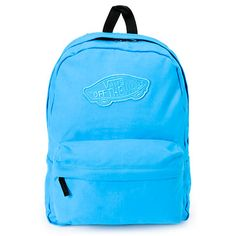 When back to school rolls around, show off your stellar style with the Realm Jewel Blue backpack from Vans. This classic cut backpack features a large main compartment with padded back and double zipper closure. With a front organizer pocket, adjustable p