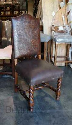 Silla Chapital, Leather Chairs- Demejico